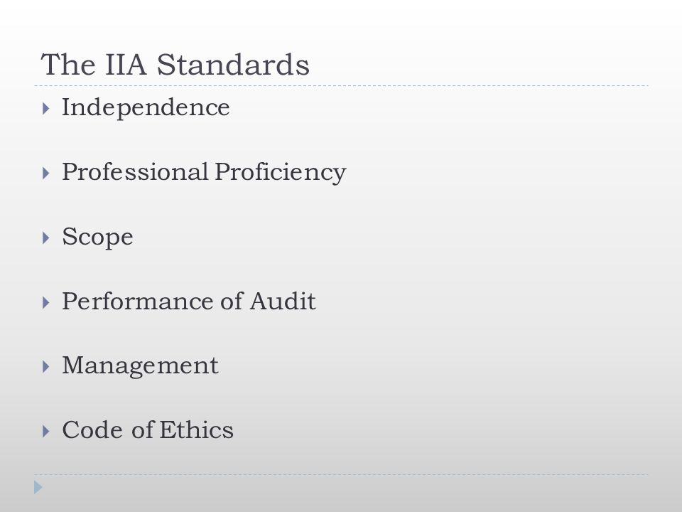 The IIA Standards Independence Professional Proficiency Scope