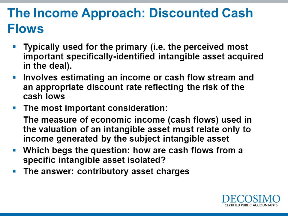 The Income Approach: Discounted Cash Flows