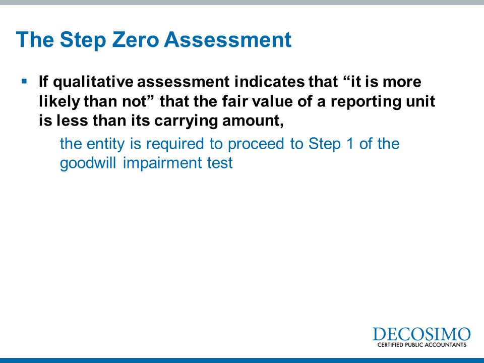 The Step Zero Assessment