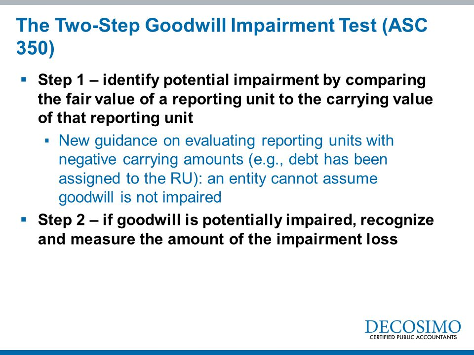 The Two-Step Goodwill Impairment Test (ASC 350)