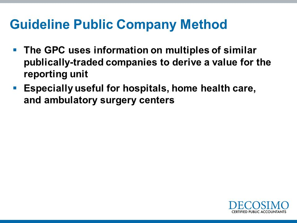 Guideline Public Company Method