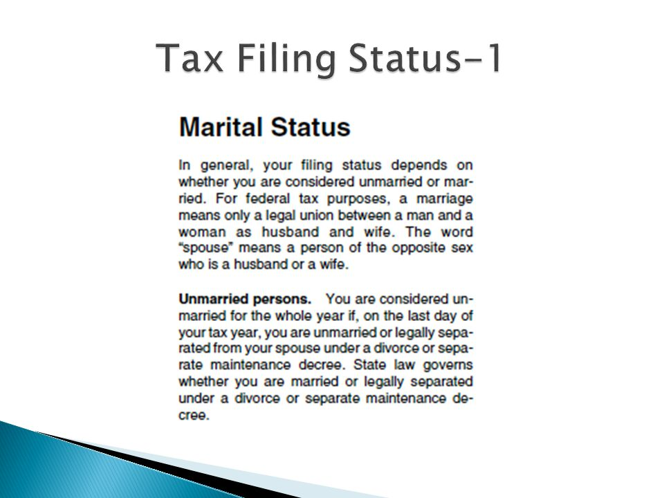 Tax Filing Status-1