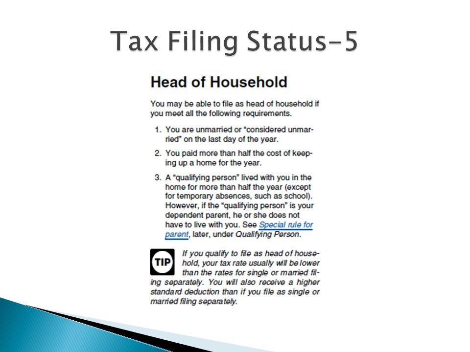 Tax Filing Status-5