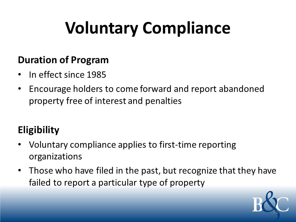 Voluntary Compliance Self-Audits and CPA Audits