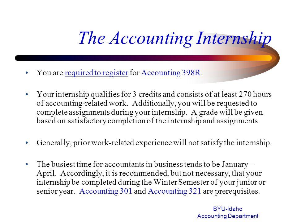 The Accounting Internship