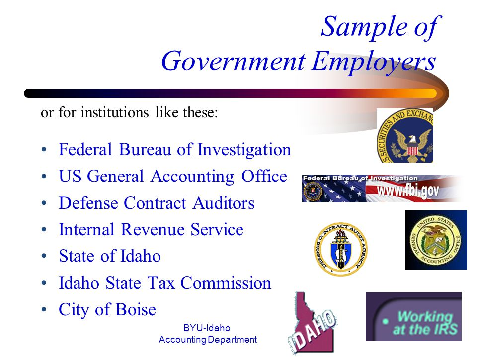 Sample of Government Employers