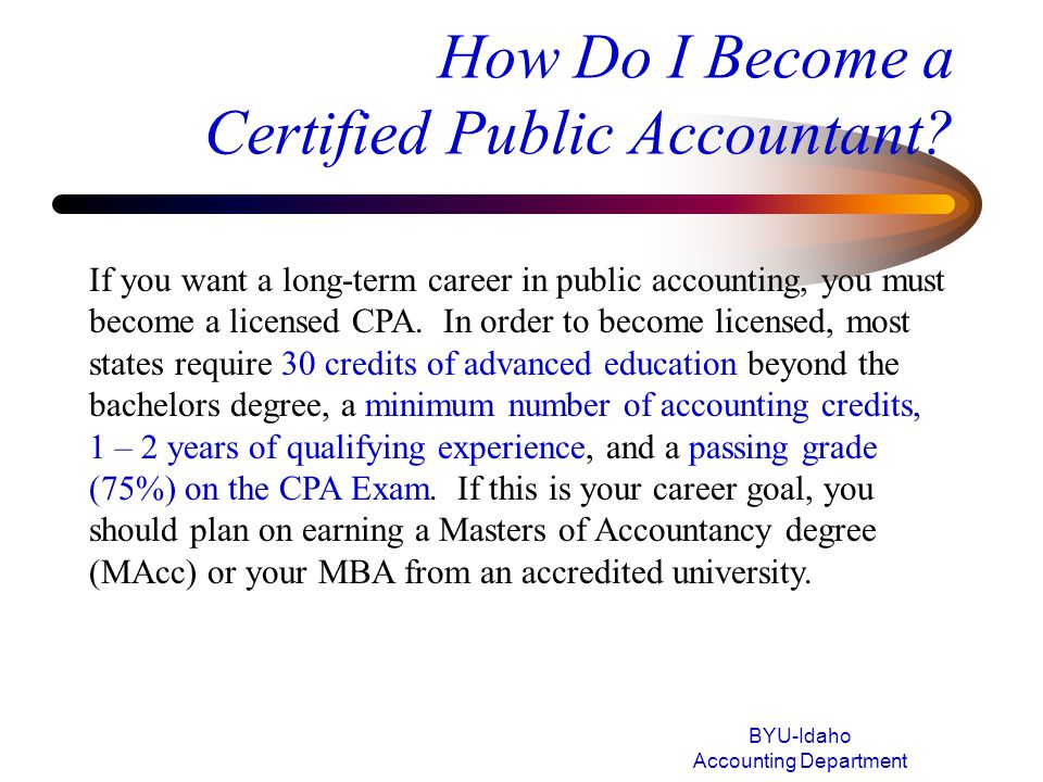 How Do I Become a Certified Public Accountant