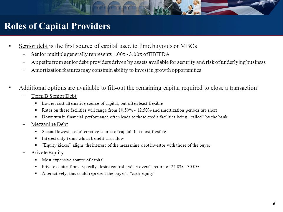 What is Mezzanine Debt Mezzanine debt (i.e. subordinated debt or junior capital) has the following characteristics: