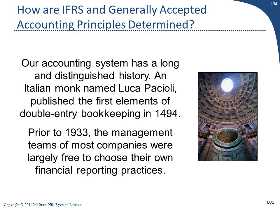 How are IFRS and Generally Accepted Accounting Principles Determined