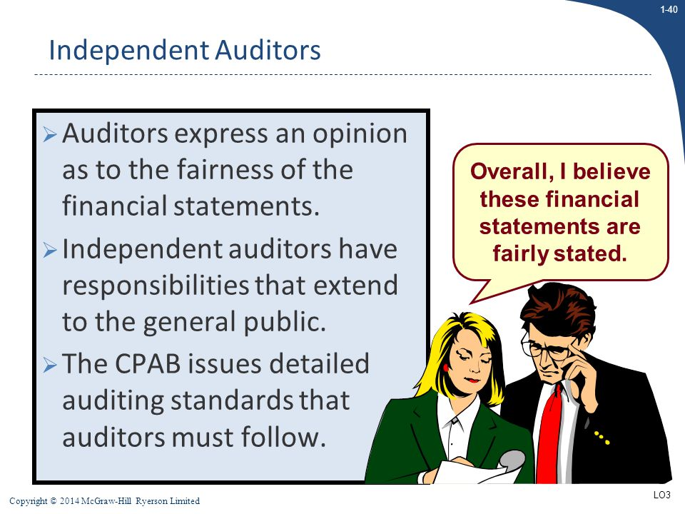 The CPAB issues detailed auditing standards that auditors must follow.