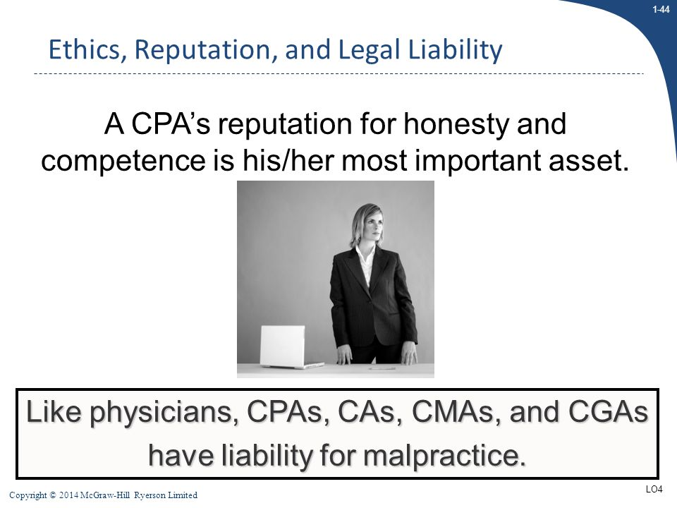 Ethics, Reputation, and Legal Liability