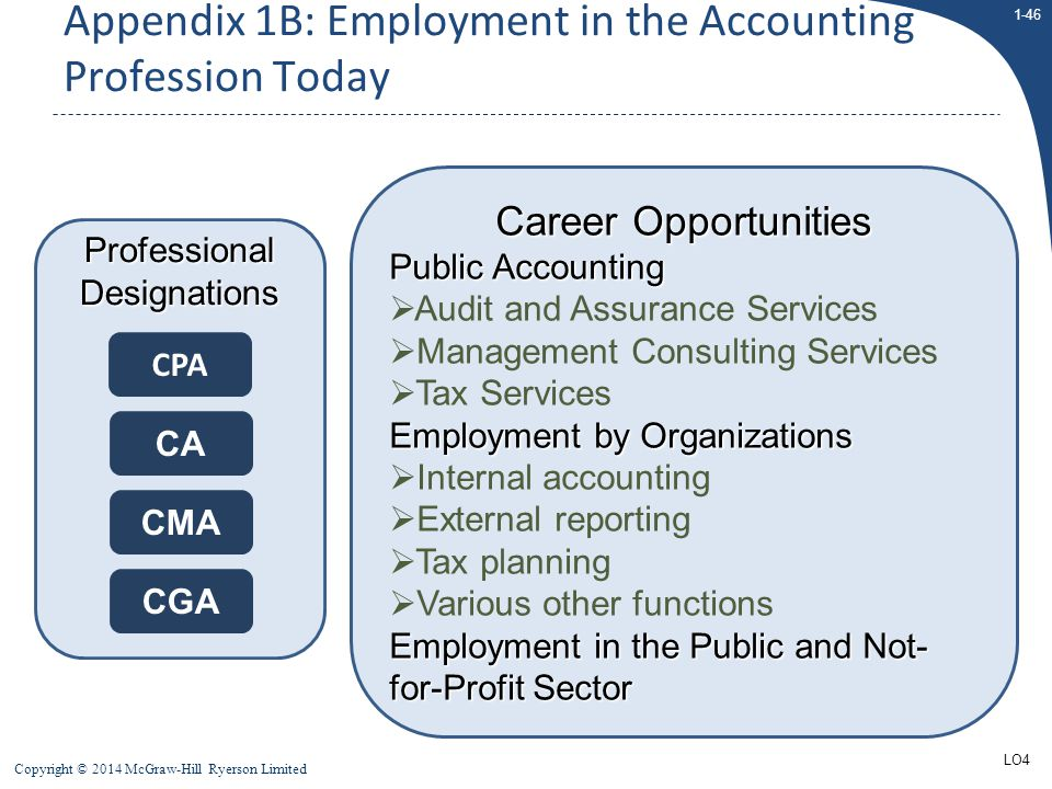 Appendix 1B: Employment in the Accounting Profession Today