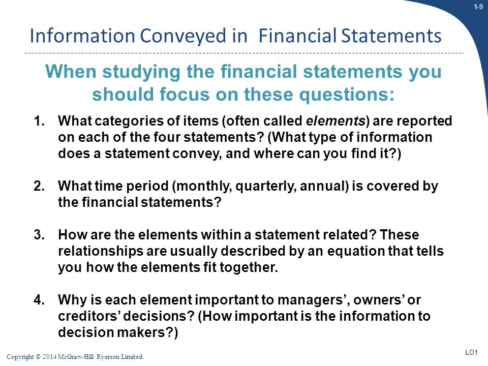 Information Conveyed in Financial Statements