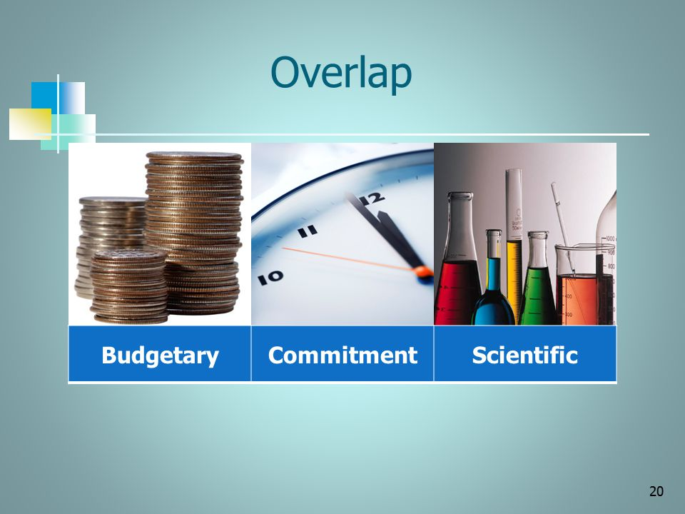 Overlap Budgetary Commitment Scientific