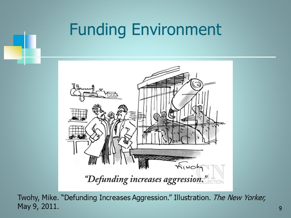 Funding Environment Twohy, Mike. Defunding Increases Aggression. Illustration.