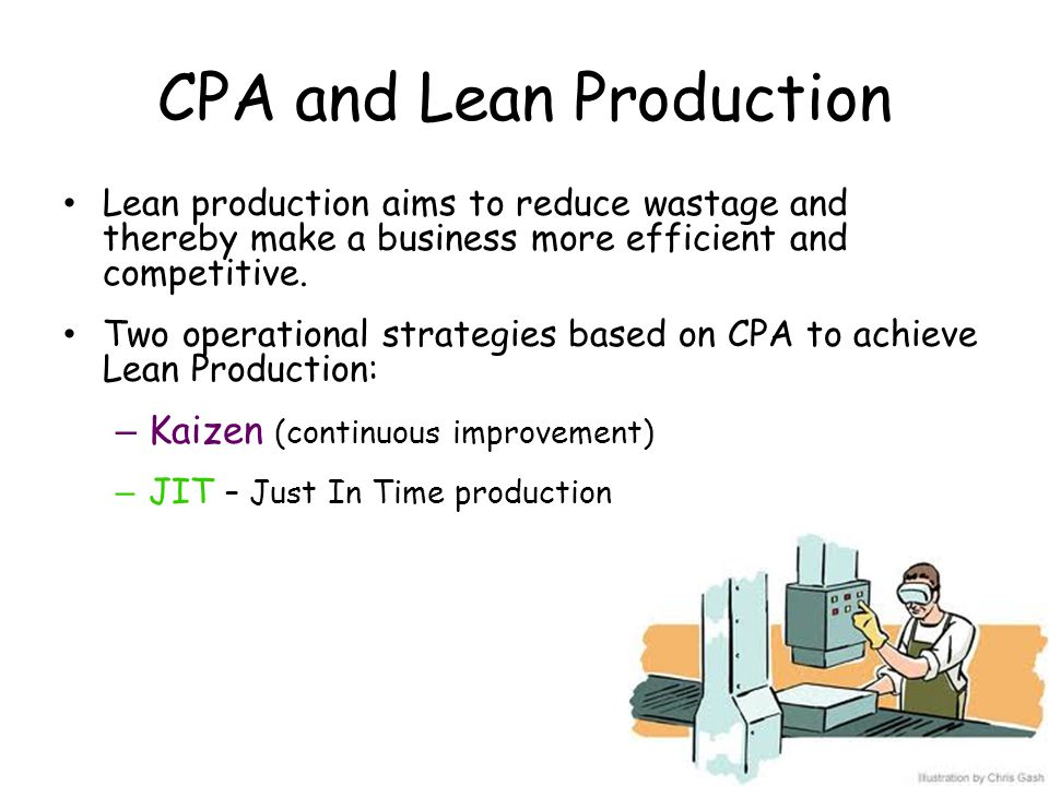 CPA and Lean Production