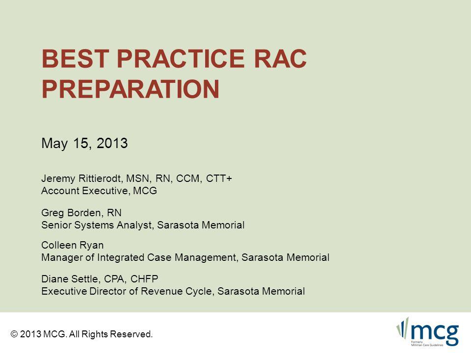 Best Practice RAC Preparation