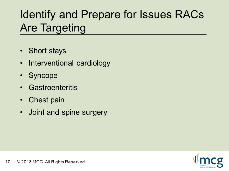 Identify and Prepare for Issues RACs Are Targeting