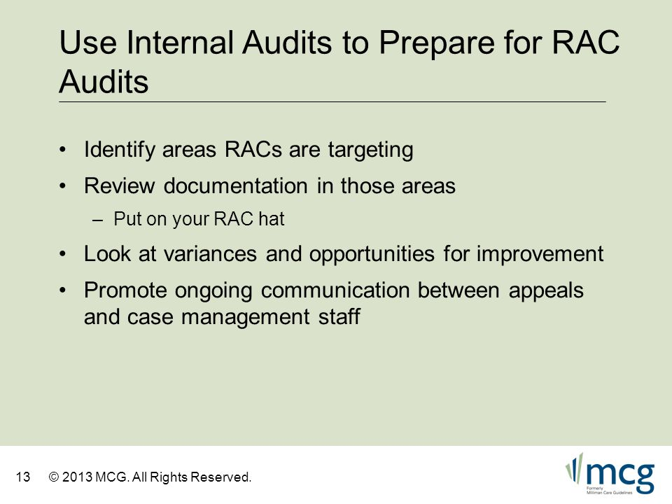 Use Internal Audits to Prepare for RAC Audits
