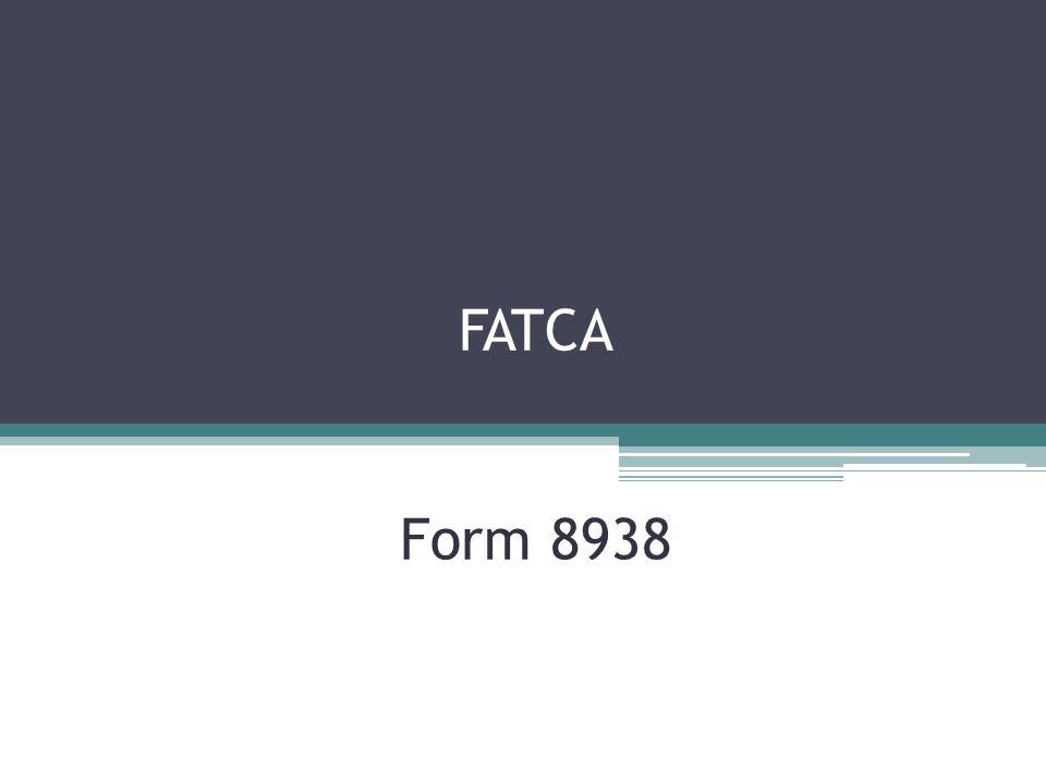 FATCA Form 8938
