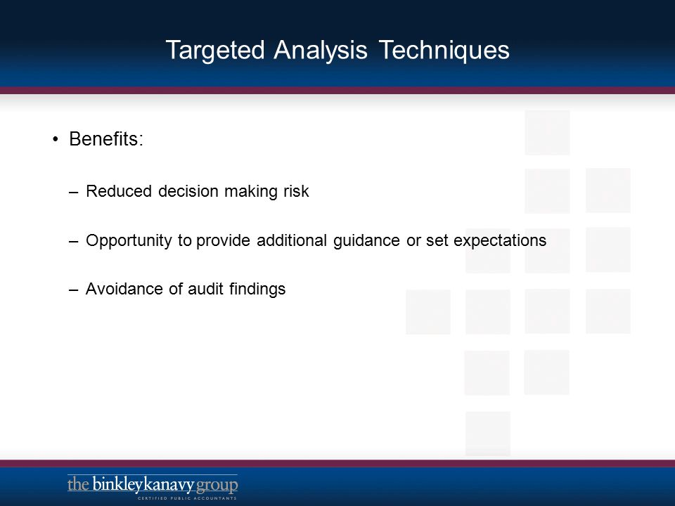 Targeted Analysis Techniques