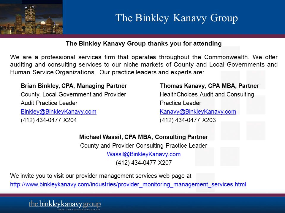 The Binkley Kanavy Group