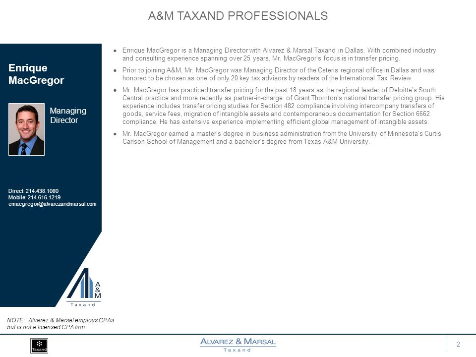 A&M TAXAND Professionals