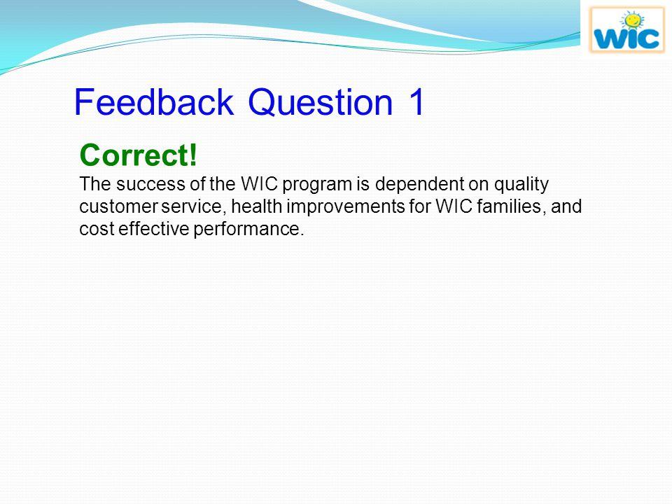 Feedback Question 1 Correct!