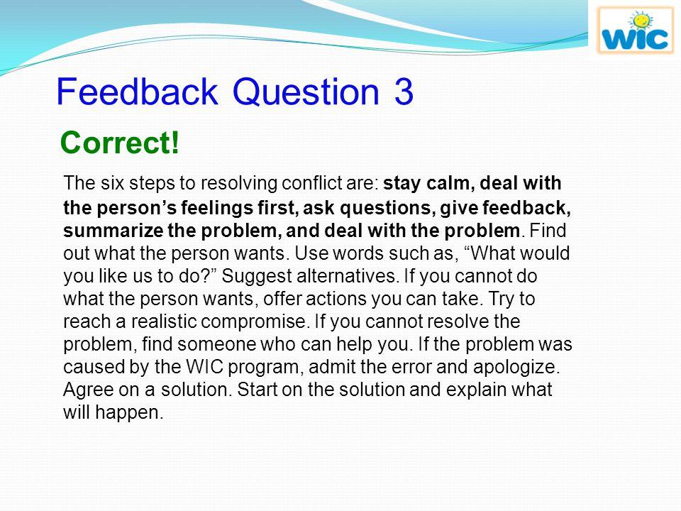 Feedback Question 3 Correct!