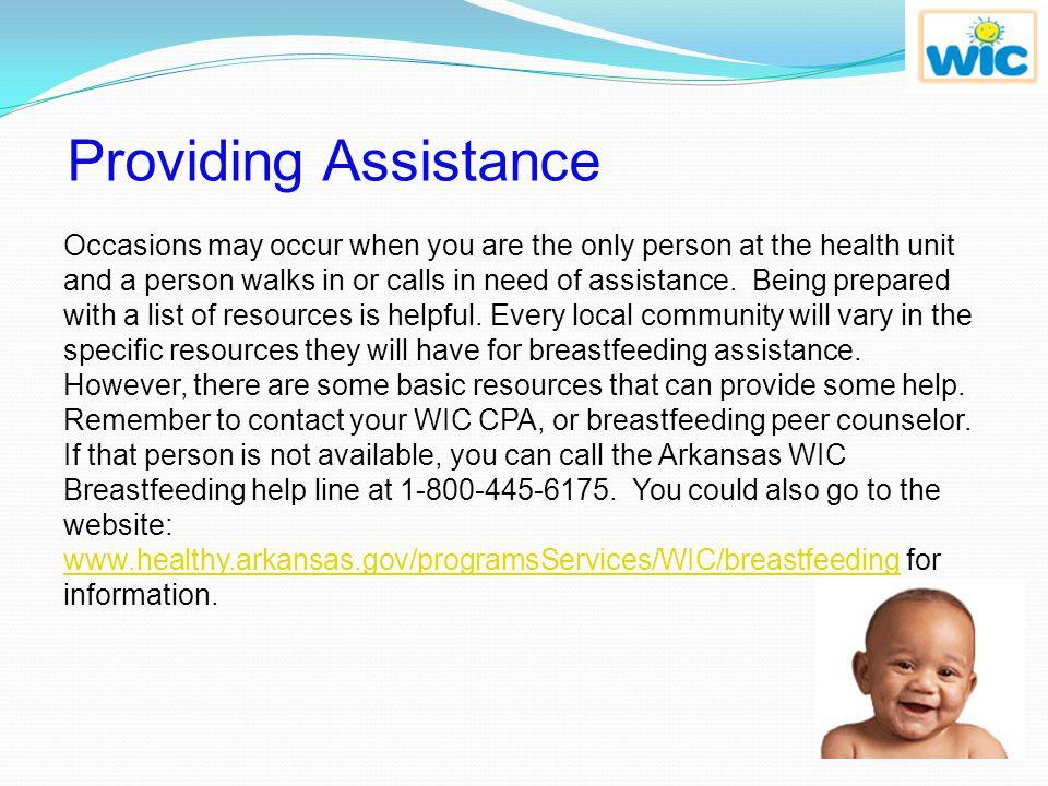 Providing Assistance