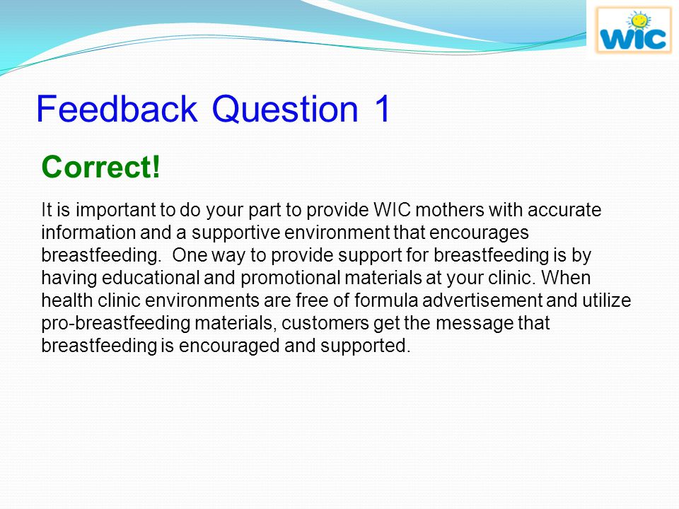 Feedback Question 1 Correct!