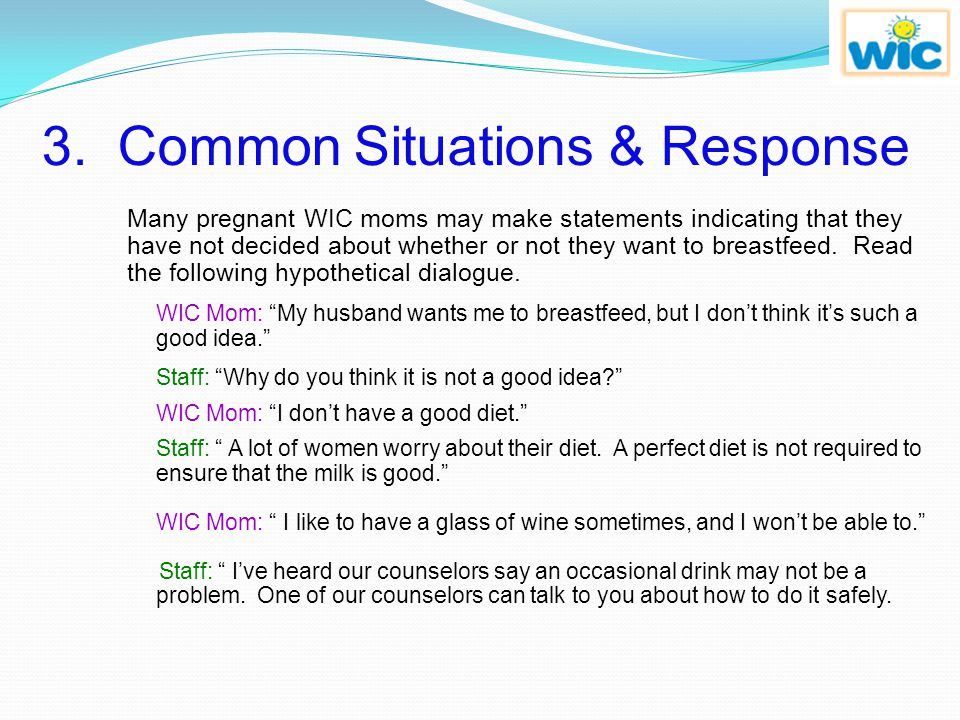 3. Common Situations & Response