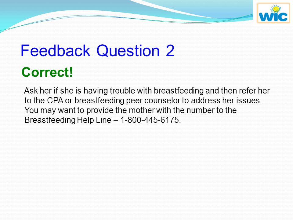 Feedback Question 2 Correct!