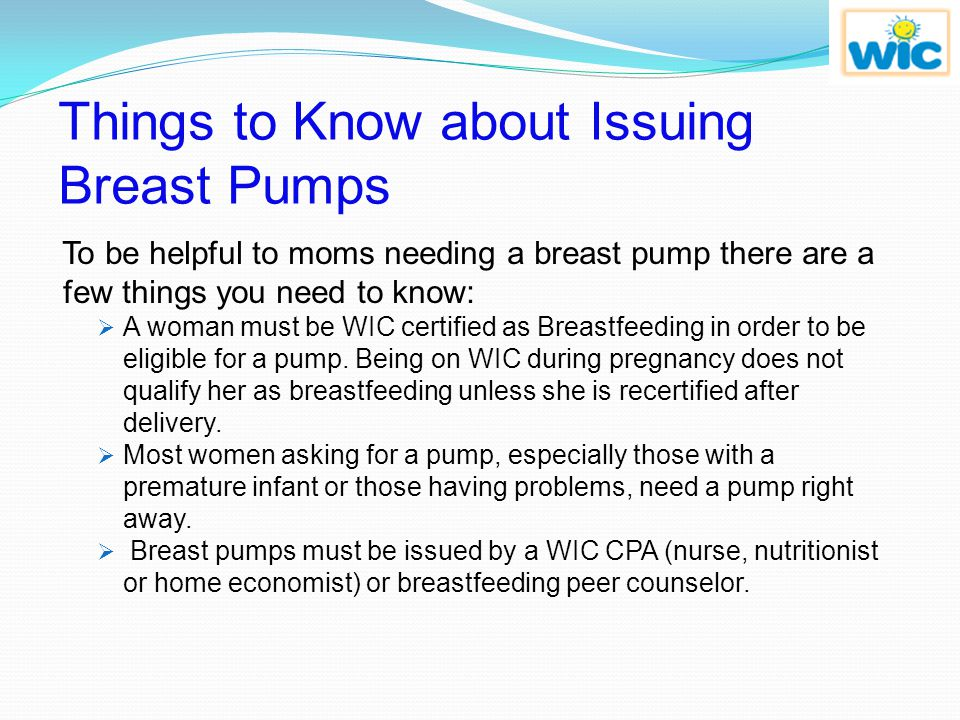 Things to Know about Issuing Breast Pumps