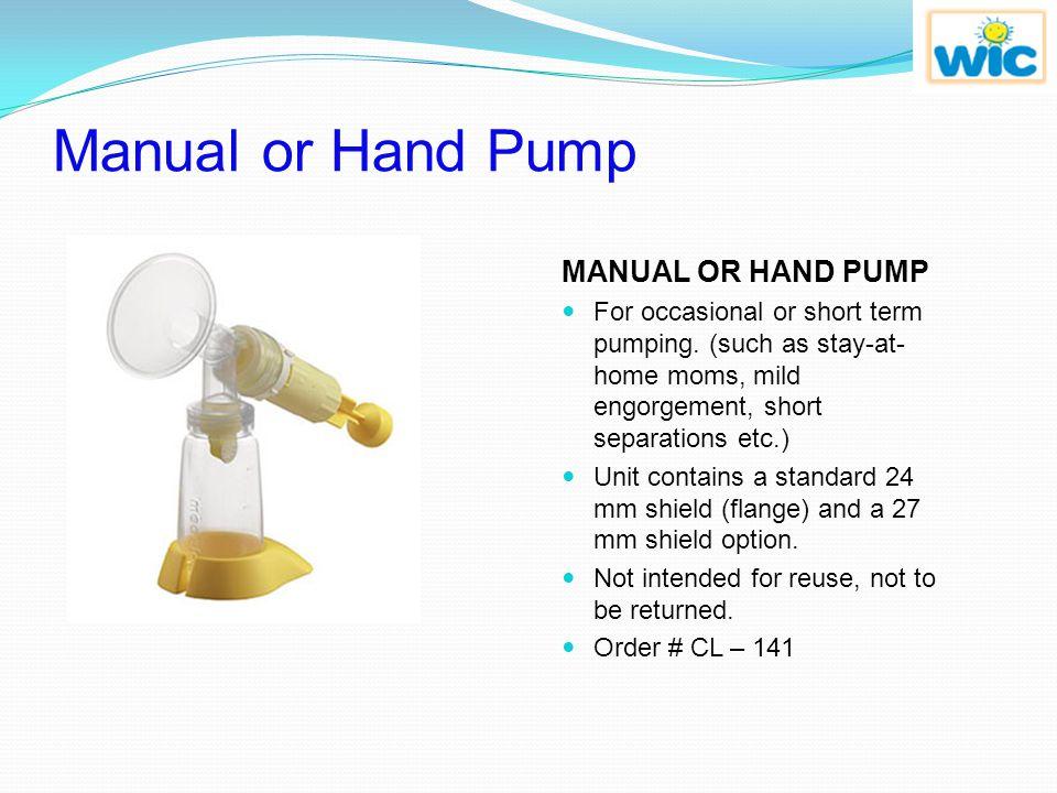 Manual or Hand Pump MANUAL OR HAND PUMP