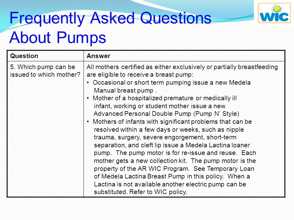 Frequently Asked Questions About Pumps
