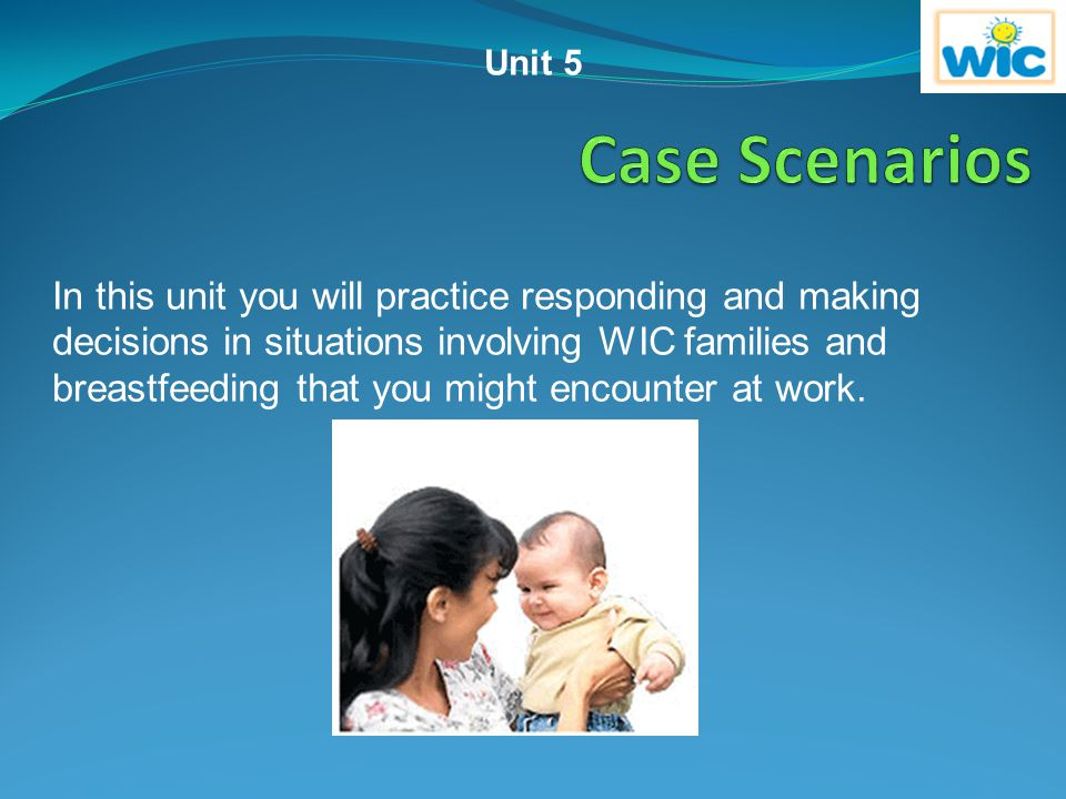 Unit 5 Case Scenarios.