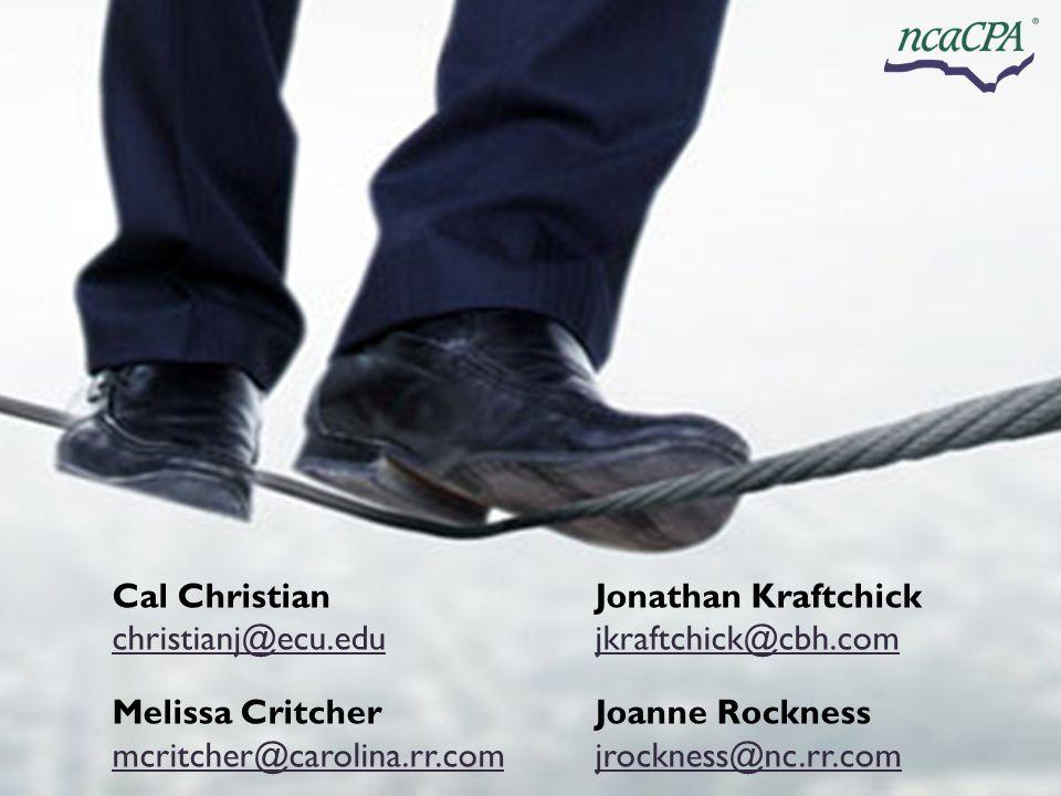 Cal Christian Jonathan Kraftchick christianj@ecu.edu
