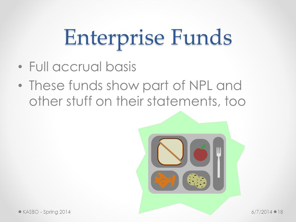 Enterprise Funds Full accrual basis