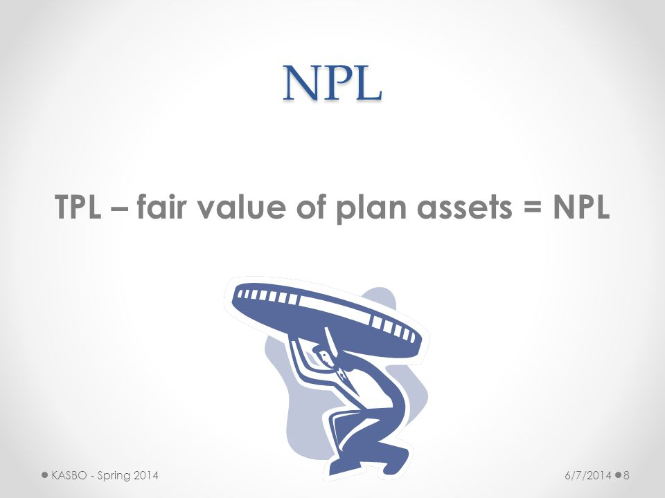 TPL – fair value of plan assets = NPL