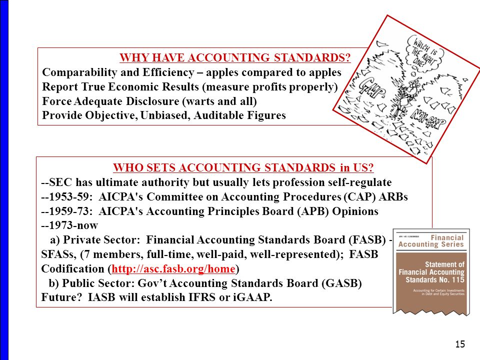 WHY HAVE ACCOUNTING STANDARDS