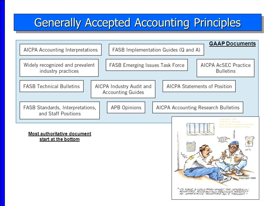Generally accepted accounting principles and non current