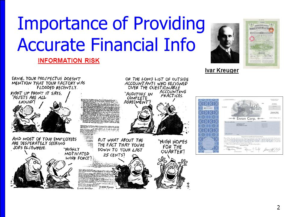 Importance of Providing Accurate Financial Info