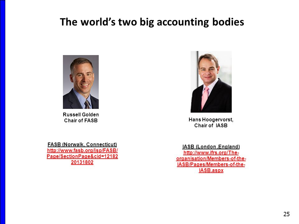 The world's two big accounting bodies