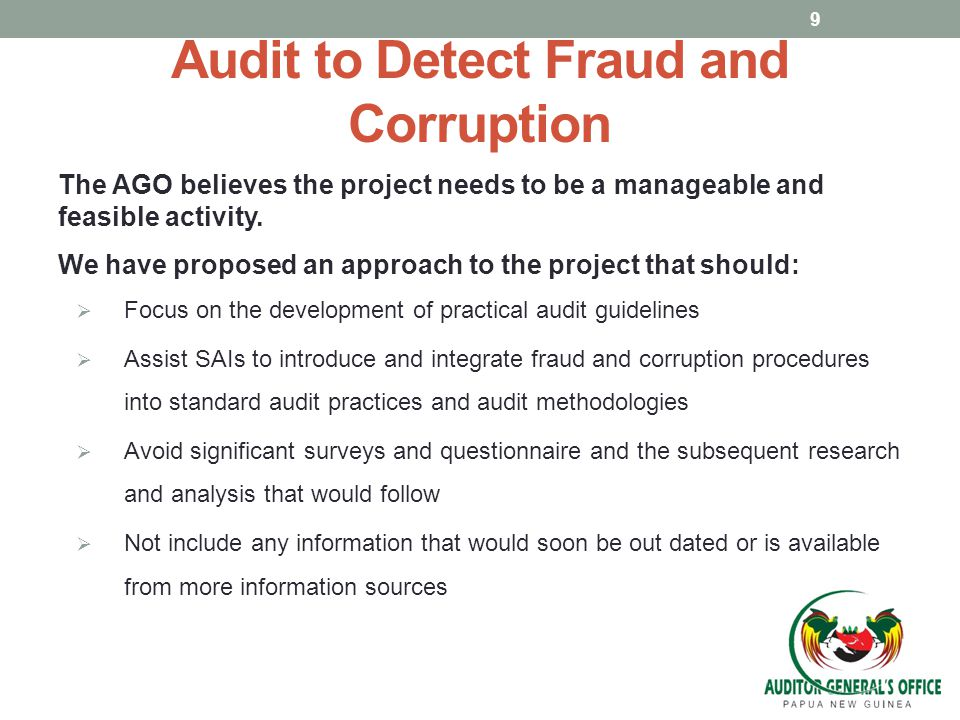 Audit to Detect Fraud and Corruption