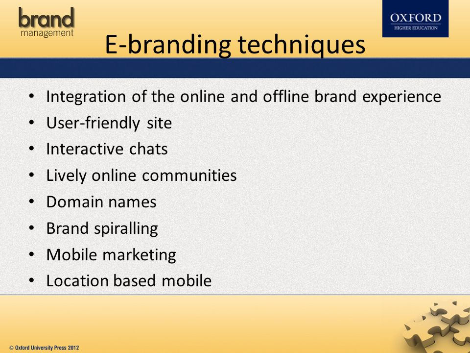 E-branding techniques