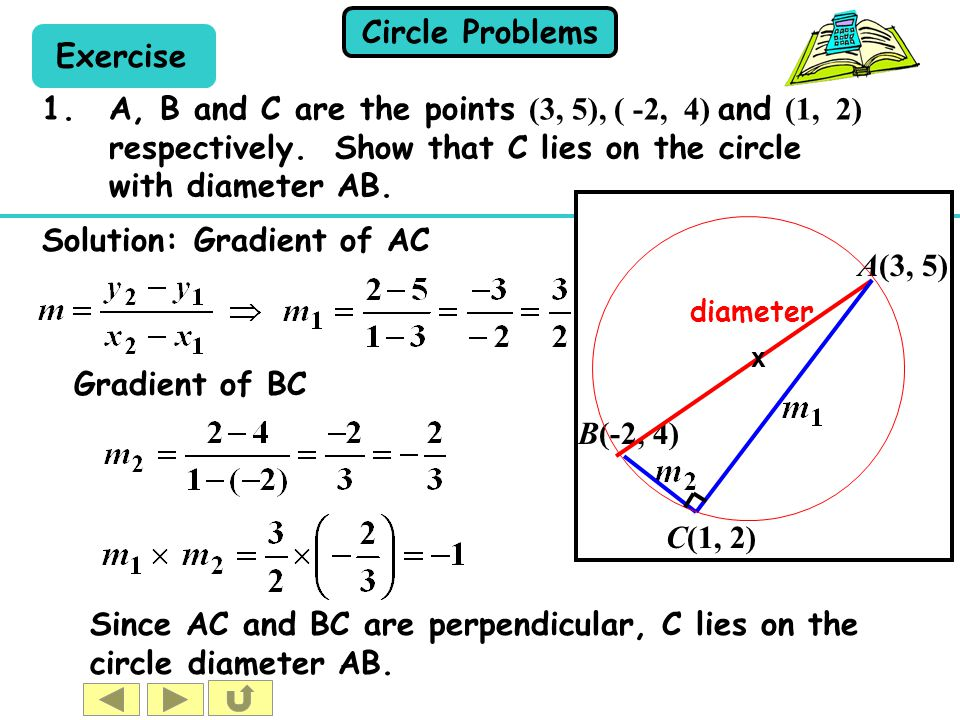 Since AC and BC are perpendicular, C lies on the circle diameter AB.