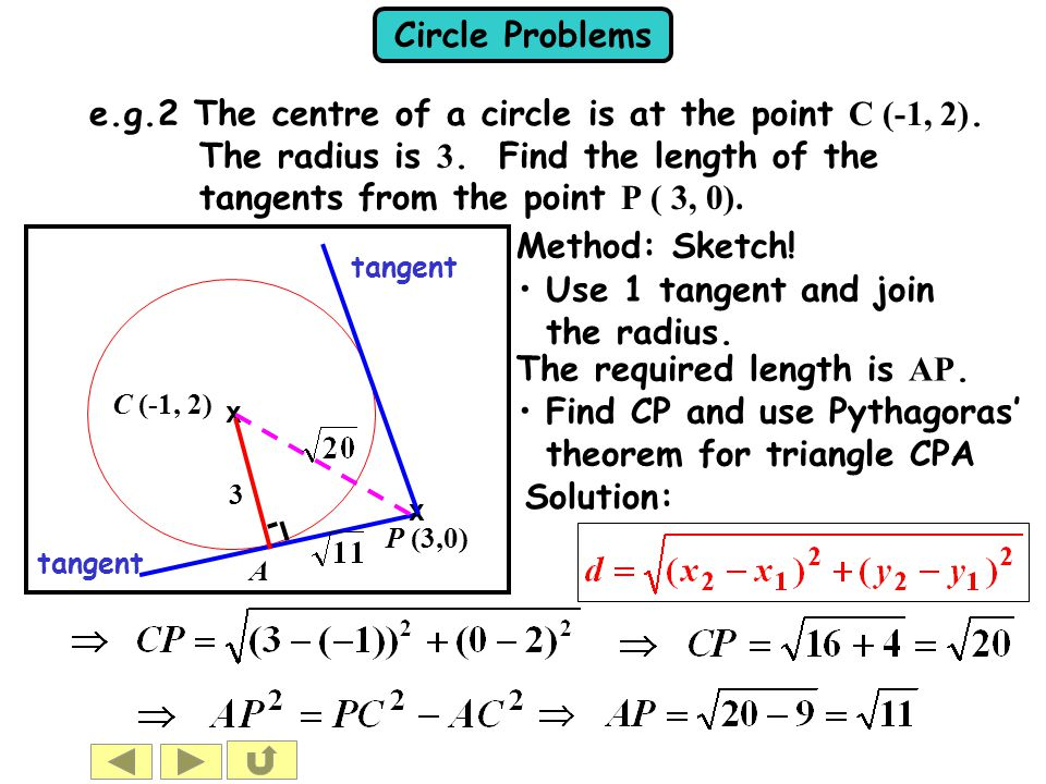 Use 1 tangent and join the radius.