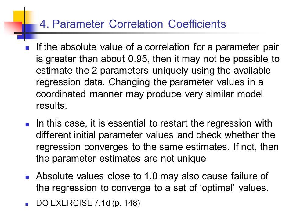 4. Parameter Correlation Coefficients