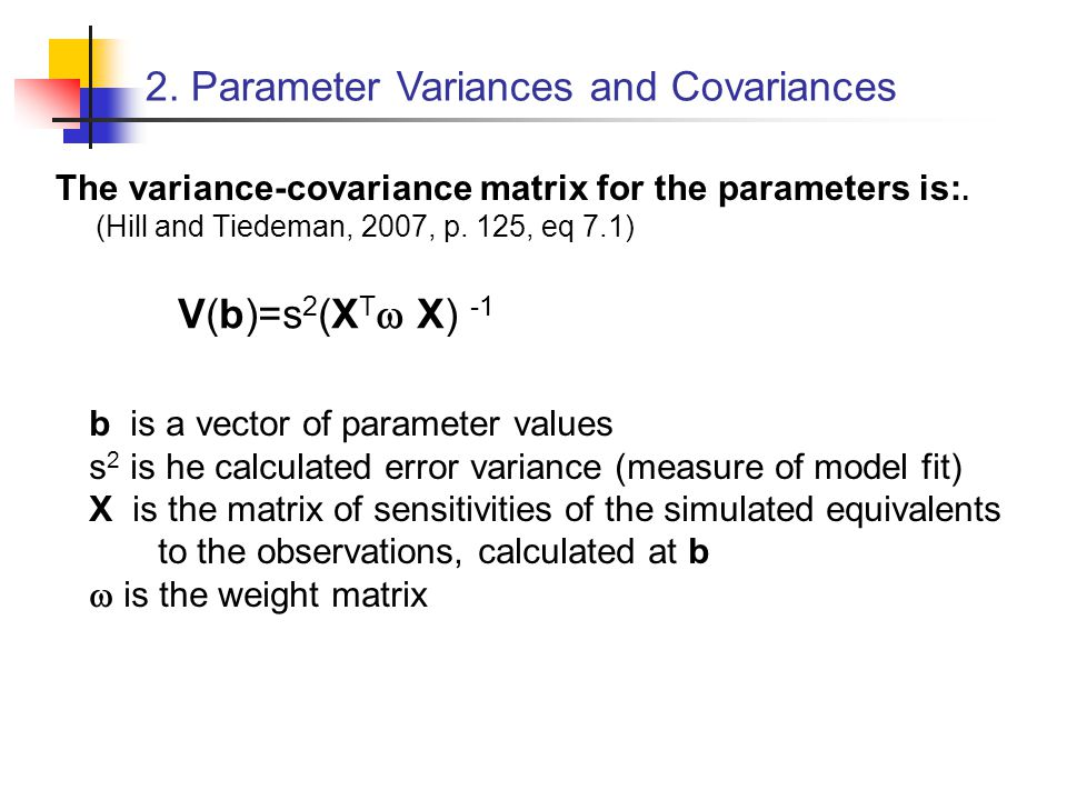 2. Parameter Variances and Covariances